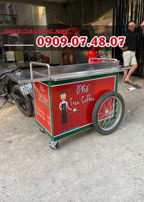 Xe đẩy bán cafe mang đi 1M | Inox Kiệt Phát