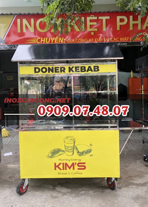 Xe bán bánh mì Doner Kebab 1m4 | Inox Kiệt Phát