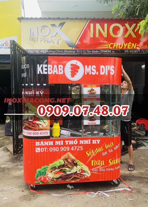 Xe bánh mì THỔ NHĨ KỲ 1m6 | Inox Kiệt Phát