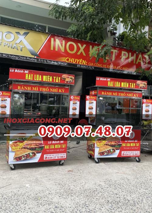 Thanh lý xe bánh mì Thổ Nhĩ Kỳ 1m2 | Inox Kiệt Phát