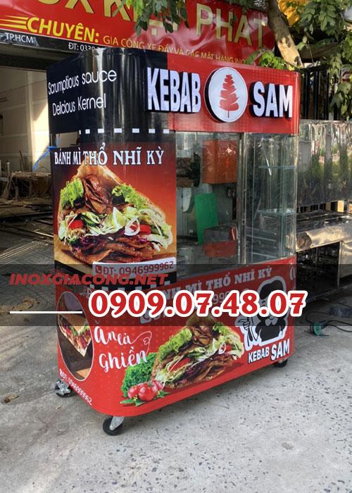 Xe bán bánh mì Thổ Nhĩ Kỳ 1m6 | Inox Kiệt Phát