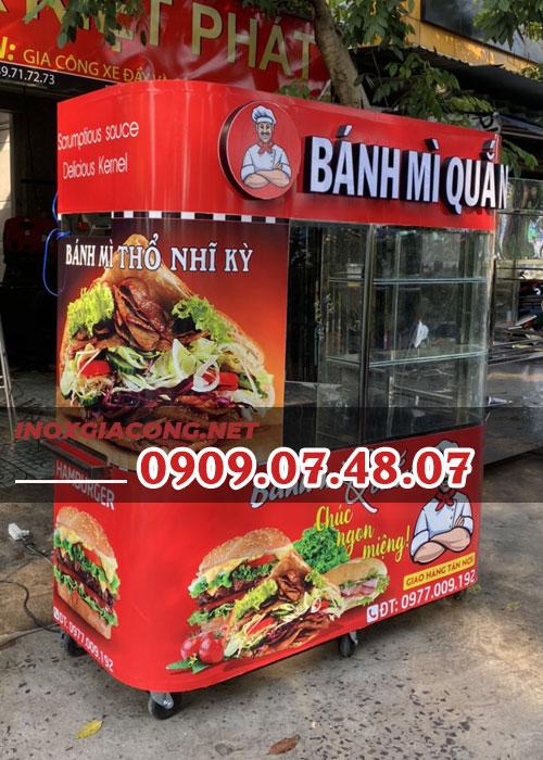 Nhượng quyền xe bánh mì Thổ Nhĩ Kỳ 1m6 | Inox Kiệt Phát