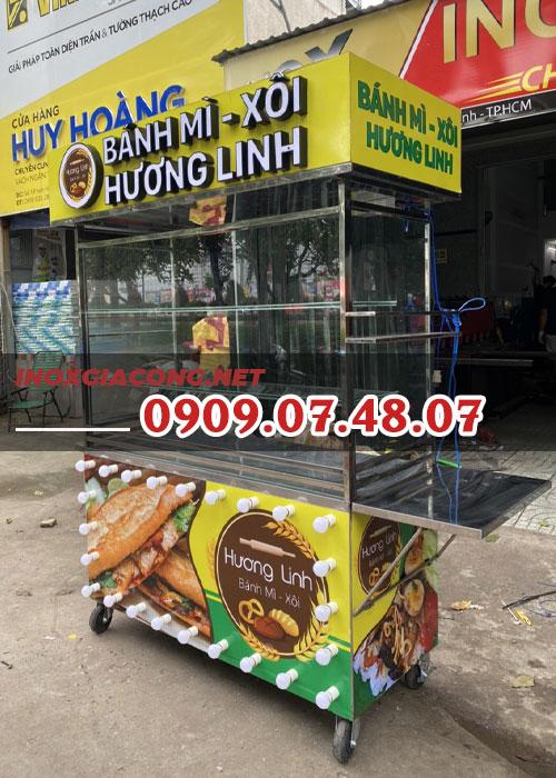 Xe bánh mì xôi 1m2 | Inox Kiệt Phát