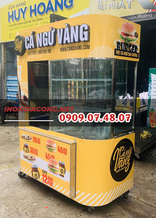 Xe bánh mì cong 1m6 | Inox Kiệt Phát