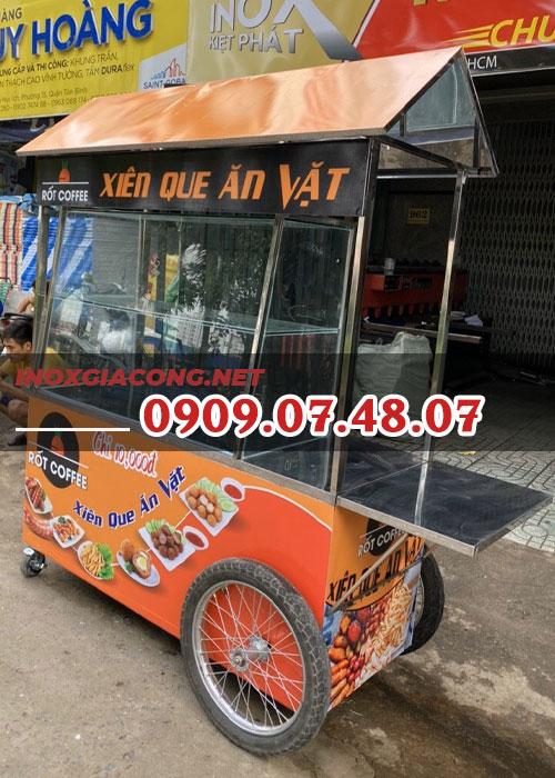 Xe bánh mì mái chùa 1m4 | Inox Kiệt Phát