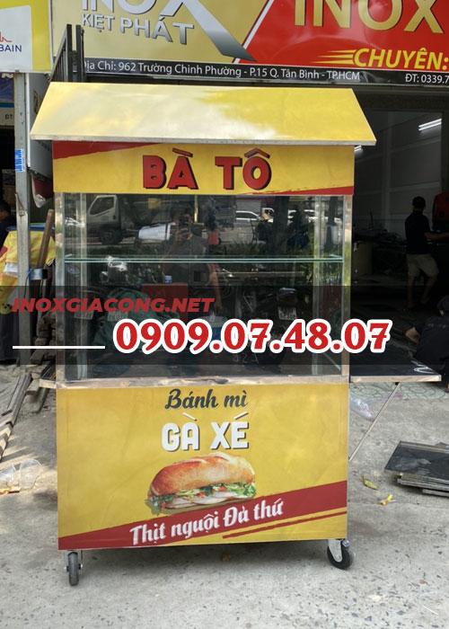 Xe bánh mì mini 1m2 | Inox Kiệt Phát
