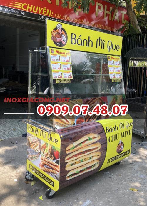 Thanh lý xe bánh mì que 1m2 | Inox Kiệt Phát
