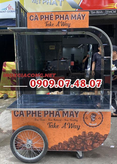 Xe cà phê 1m4 | Inox Kiệt Phát