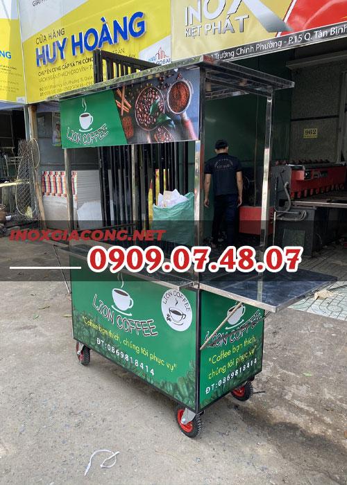 Xe cà phê Sài Gòn 1m2 | Inox Kiệt Phát