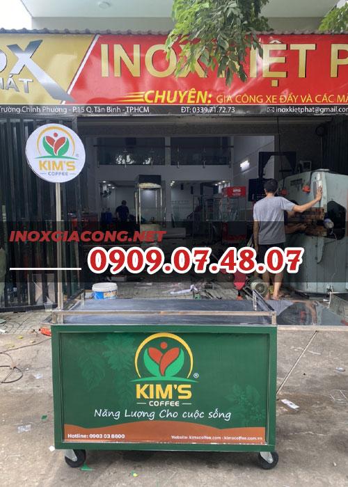 Tủ xe bán cà phê 1m2 | Inox Kiệt Phát