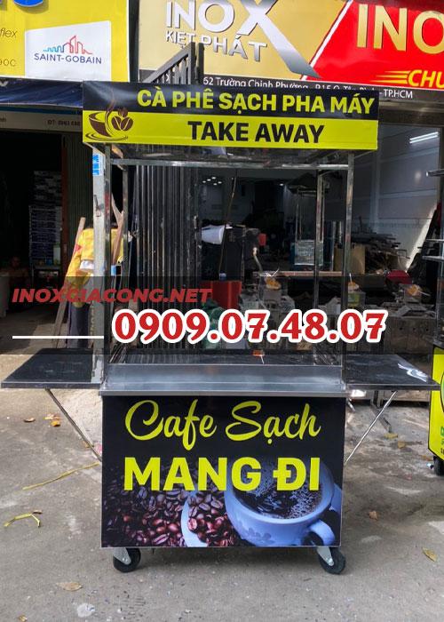 Tủ xe bán cà phê sạch 1m | Inox Kiệt Phát