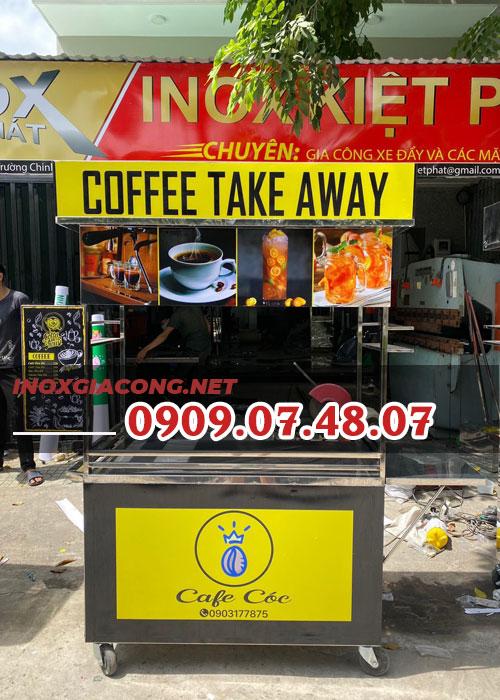Xe bán cà phê 1m2 | Inox Kiệt Phát