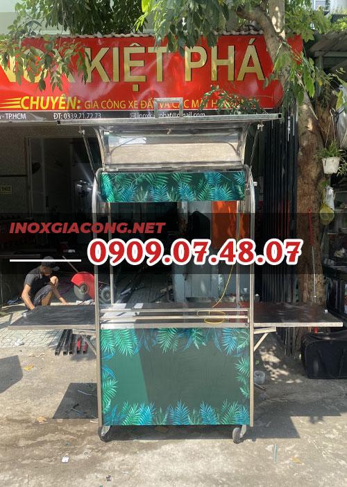 Xe cà phê Inox 1m2 | Inox Kiệt Phát
