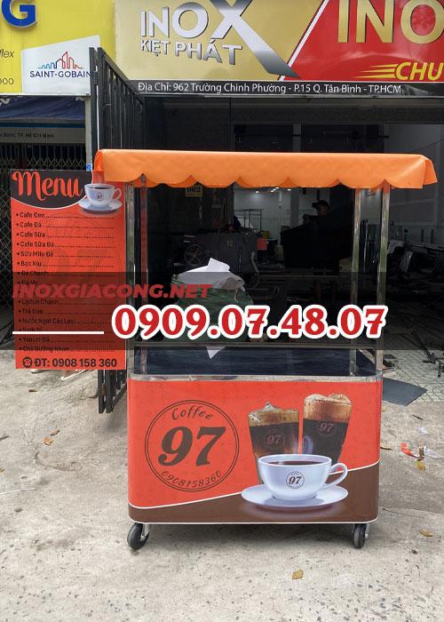 Xe cà phê lưu động 1m2 | Inox Kiệt Phát