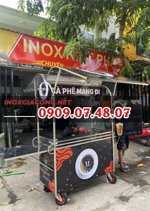 Xe cà phê expresso 1m2 | Inox Kiệt Phát