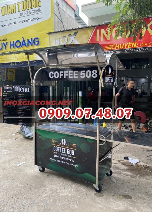 Xe cà phê giá rẻ 1m2 | Inox Kiệt Phát