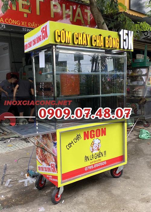 Xe cơm cháy 1m2 | Inox Kiệt Phát