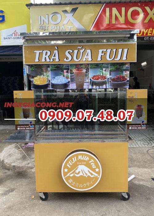 Xe trà sữa inox 1m2 | Inox Kiệt Phát