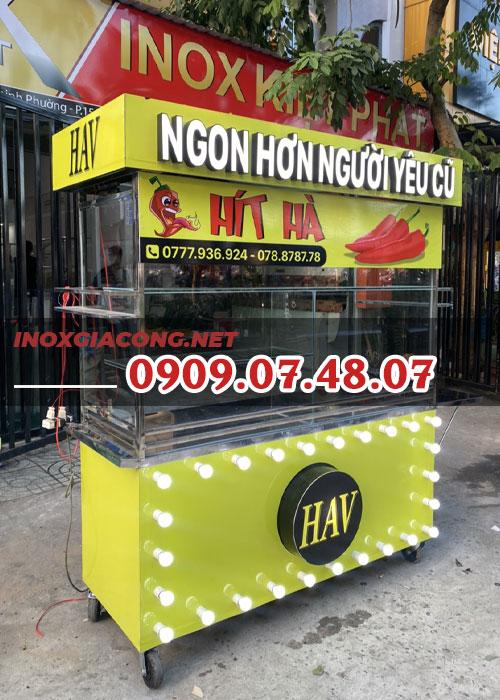 Xe trà sữa lưu động 1M4 | Inox Kiệt Phát