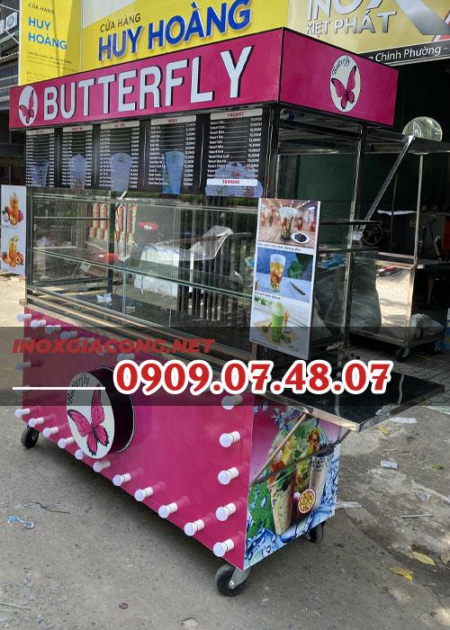 Quầy bán trà sữa 1m4 | Inox Kiệt Phát