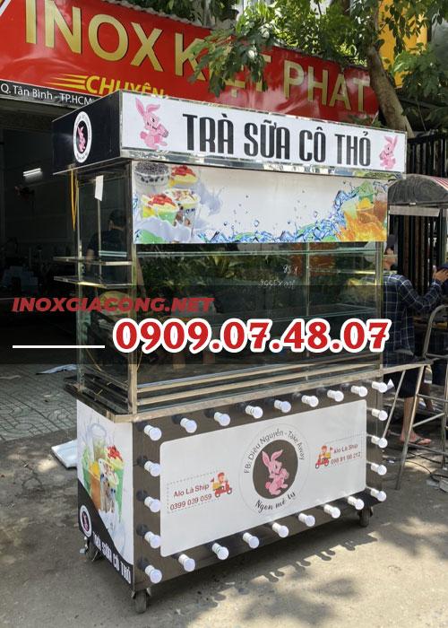 Xe trà sữa RABBIT 1m2 | Inox Kiệt Phát