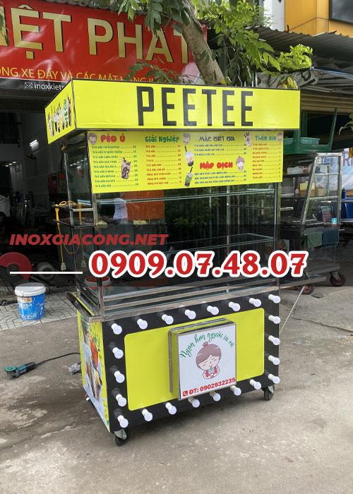 Xe trà sữa 1M2 | Inox Kiệt Phát