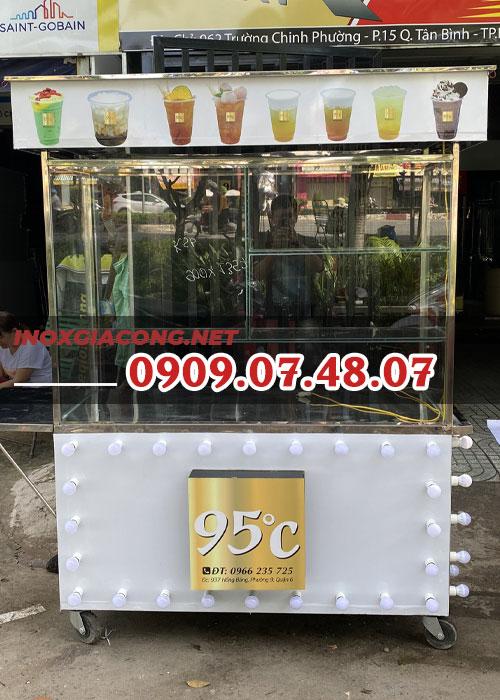 Xe trà sữa đẹp 1m2 | Inox Kiệt Phát