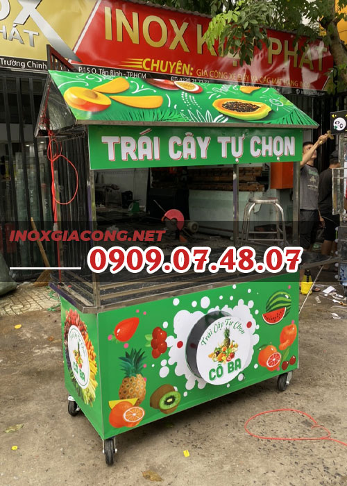 Xe nước ép trái cây 1m4 | Inox Kiệt Phát